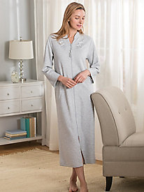 Miss Elaine Quilted Zip Front Robe
