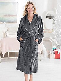 Eileen West Microfleece Wrap Robe