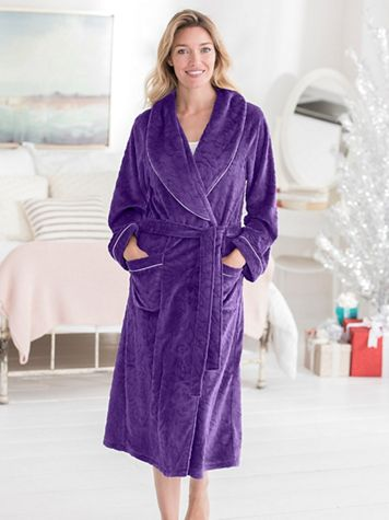 Eileen West Microfleece Wrap Robe