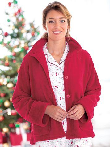 La Cera Plush Bed Jacket - Image 1 of 3