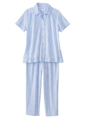 Carol Hochman® Floral-Print Cotton Knit Pajamas - Image 2 of 2