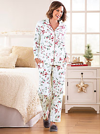 Karen Neuburger Floral Knit Girlfriend Pajama Set