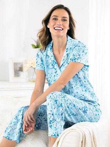 Karen Neuburger® Short-Sleeve Knit Girlfriend Pajama Set - Image 1 of 1