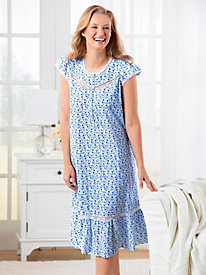 Floral Cotton Lawn Nightgown