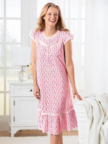 Floral Cotton Lawn Nightgown - Image 1 of 1