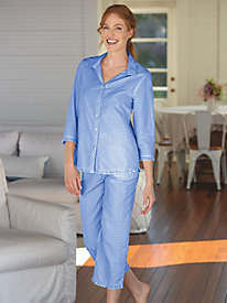 Mini Gingham Cotton Lawn Pajamas