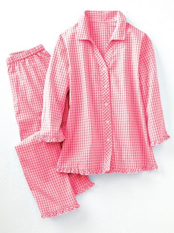 Mini Gingham Cotton Lawn Pajamas