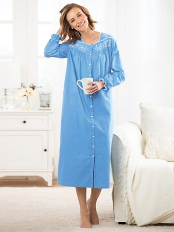 Embroidered Cotton Lawn Robe - Image 2 of 2