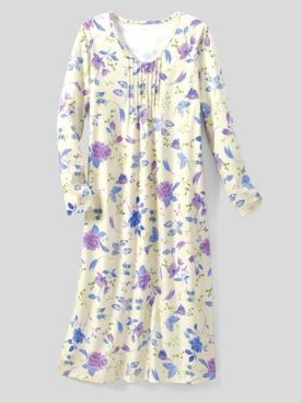 Moonlit Floral Knit Nightgown