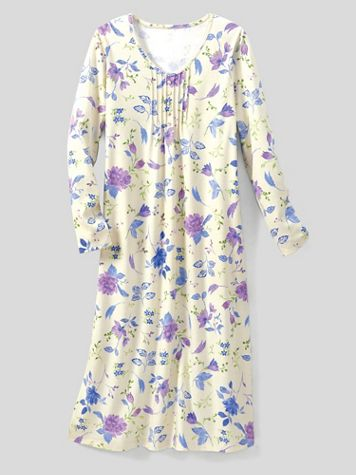 Moonlit Floral Knit Nightgown - Image 2 of 2