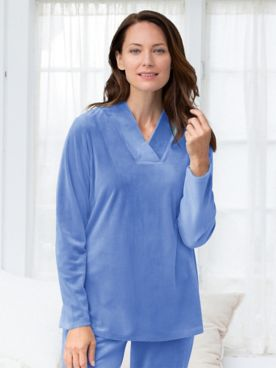 Cloud Velour V-Neck Lounge Tunic