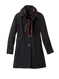 Wool Scarf Coat by London Fog