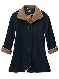 Two-Tone Wool Coat by Ellen Tracy