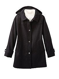 Hooded Wool Coat by Jones New York
