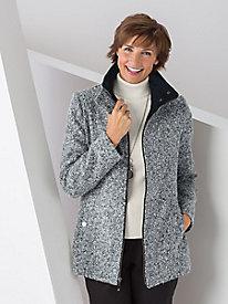 Zip Tweed Coat by Jones New York
