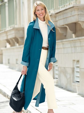 Button Front Long Raincoat - Image 1 of 7