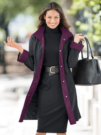 Button Front Three-Quarter Length Raincoat - Image 1 of 3