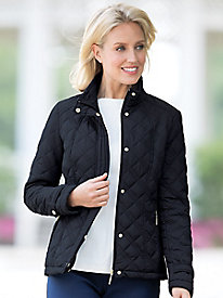 Quilted Jacket with Ribbed Sides by Weatherproof