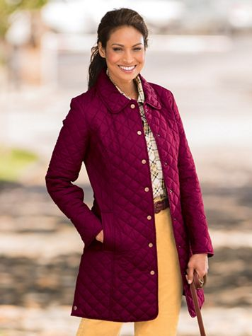 Diamond-Quilted Coat - Image 1 of 1
