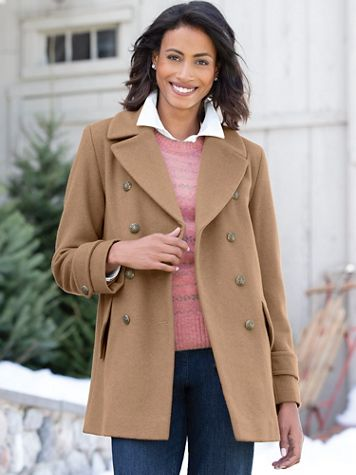 Wool Pea Coat by Larry Levine - Image 1 of 4