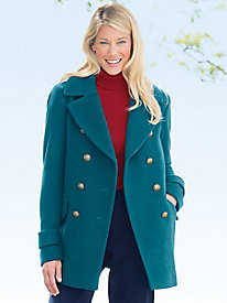 Wool Pea Coat by Larry Levine by Appleseed's