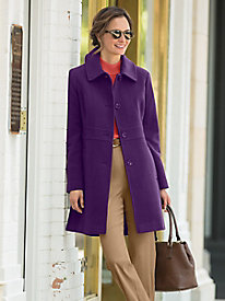 Classic Wool Coat by Larry Levine