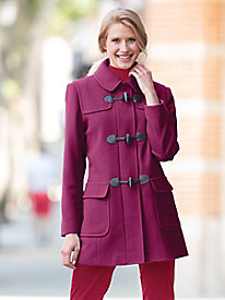 Wool Toggle Coat by Larry Levine by Appleseed's