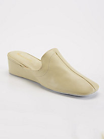 Somersby Leather Slip-On Wedge Slippers