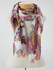 Paisley Border-Stripe Scarf by Appleseed's