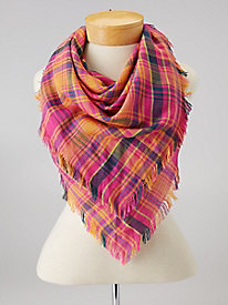 Bright Plaid Scarf by Echo