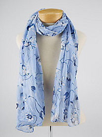 Echo Design Blue Floral Scarf