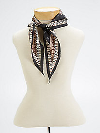 Echo Design Neutral Silk Neckerchief