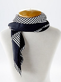 Black/White Stripe Neckerchief