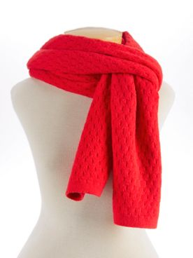 Echo Diamond-Textured Scarf