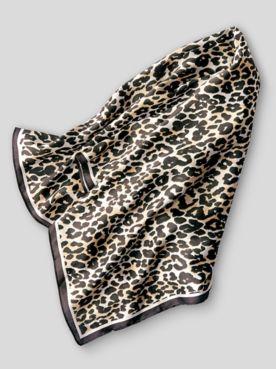 Leopard-Print Neckerchief Scarf