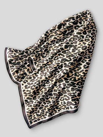 Leopard-Print Neckerchief Scarf - Image 2 of 2