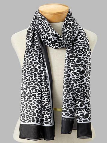 Oblong Leopard-Print Scarf - Image 5 of 5