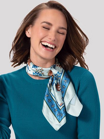 Fall Floral Neckerchief - Image 1 of 3