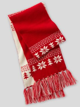 Nordic Knit Reversible Scarf
