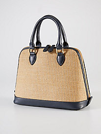 Straw Dome Satchel