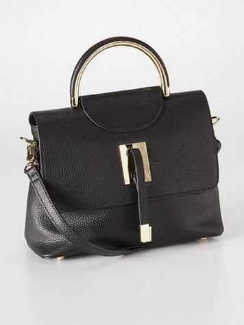 New York Leather Satchel - Image 4 of 4