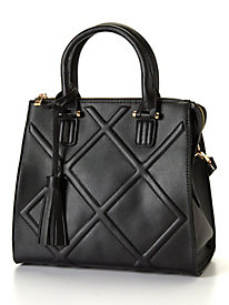 Quilted Vegan Leather Satchel