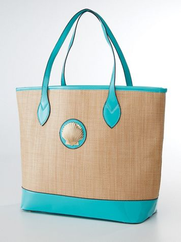Magid® Seashell Straw Tote - Image 2 of 2