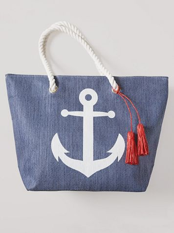 Magid® Anchor Straw Tote - Image 2 of 2