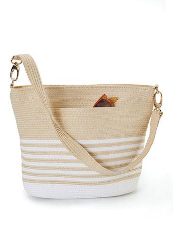 Magid Striped Straw Shoulder Bag - Image 1 of 1
