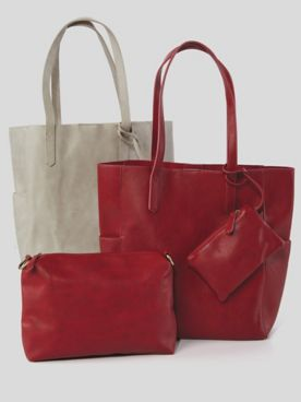 Bella North/South Faux-Leather Tote