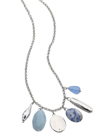 Blue Bead Charm Necklace - Image 1 of 1