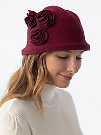 Wool Flower Cloche Hat