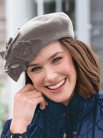 Wool Flower Beret - Image 1 of 4