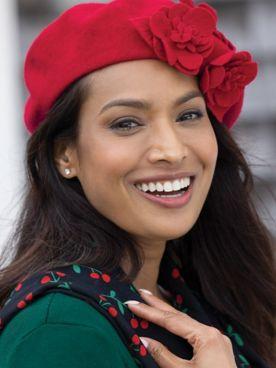 Wool Flower Beret